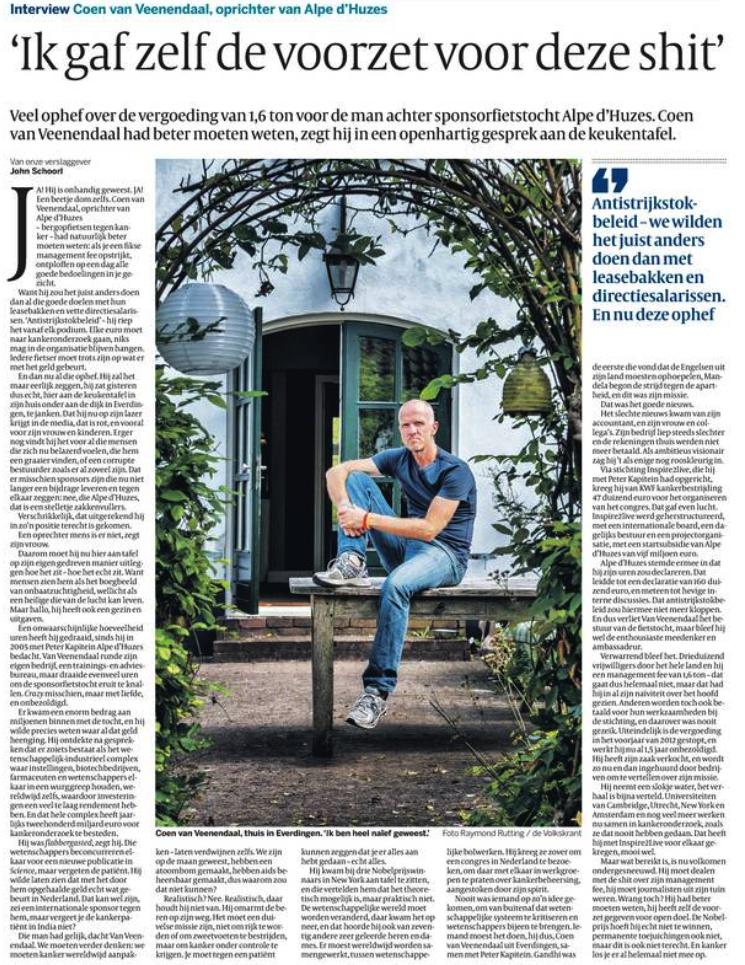 Interview Coen van Veenendaal (Bron: Volkskrant)