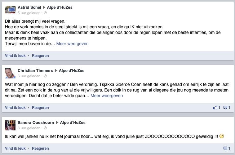 Reacties op Facebook nav Nieuwsuur