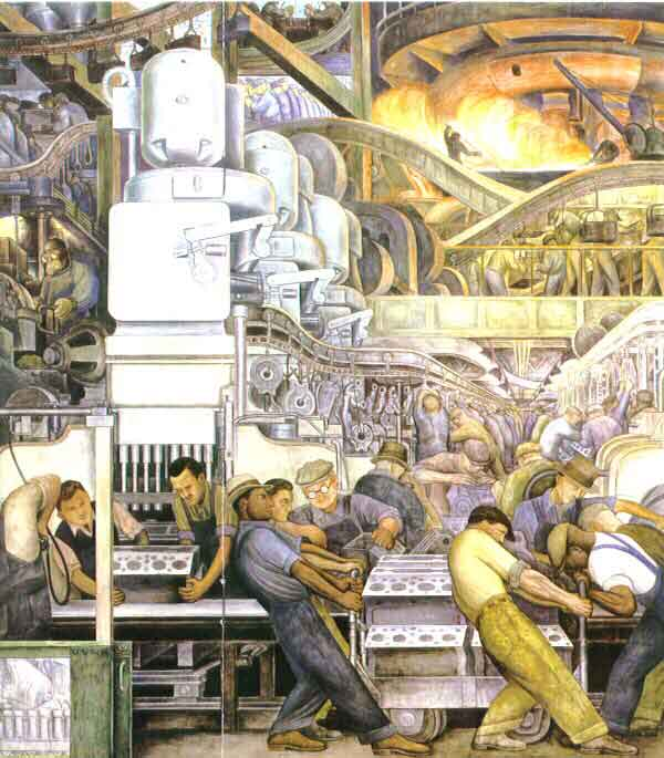 Image of Mural by Diego Rivera, Detroit Institute of the Arts