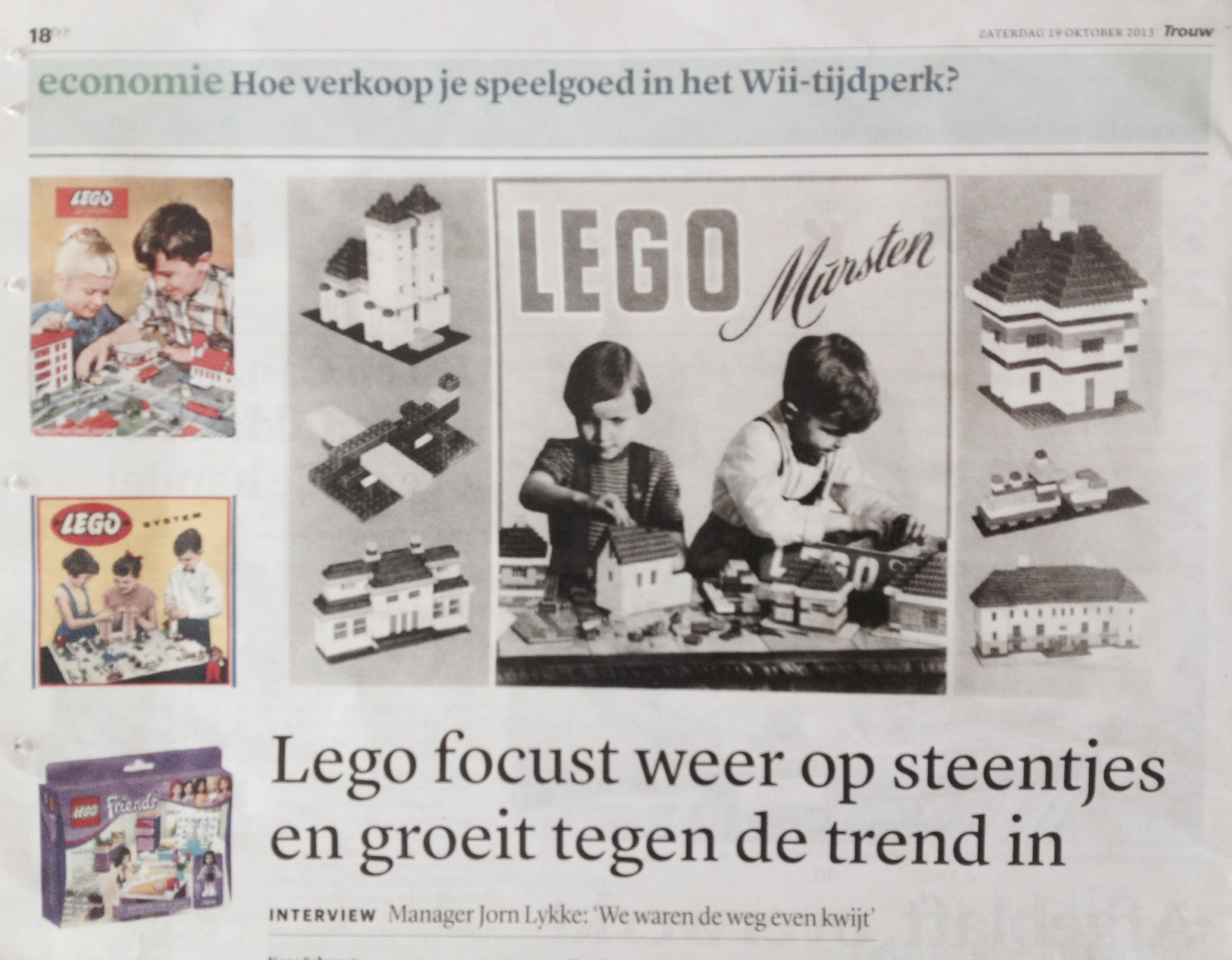 Interview met LEGO Manager Jorn Lykke in Trouw